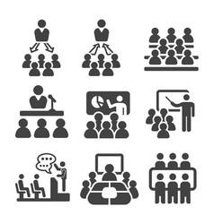 seminar icon vector image