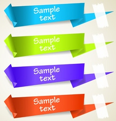 set abstract origami tag labels vector image