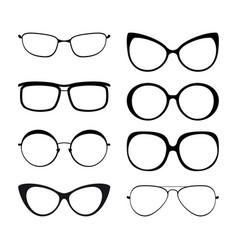 Set eyeglasses vector