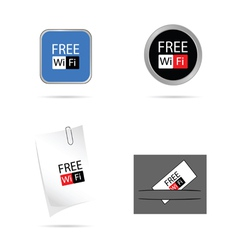 set icon for free wi fi vector image