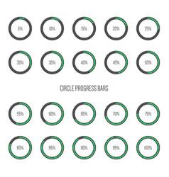 set minimal futuristic progress loading bars vector image