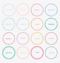 set of colorful round frames for decoration vector image