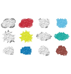 set of various stickers vector image