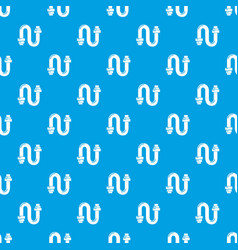siphon pattern seamless blue vector image