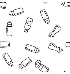 Sport bottle fitness accessory seamless vector