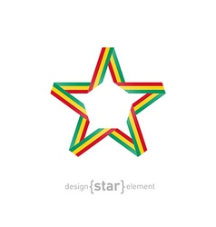 Star with Guinea flag colors vector