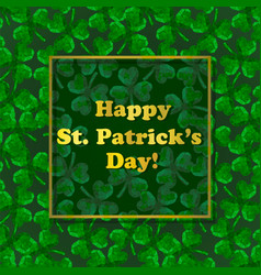 stpatricks day greeting card with polygonal vector image