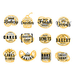 Sweet confectionery pastry bakery food vector