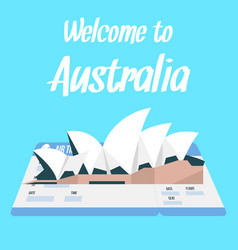 sydney opera house with text vector image