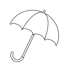 umbrella accessory water protection thin line vector image