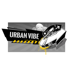 Urban graffiti banner vector
