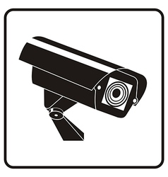 Video surveillance sign CCTV Camera vector image