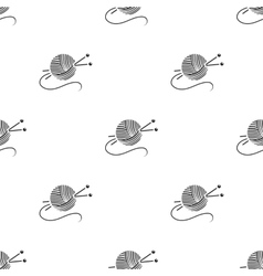 Yarn and needles icon of for vector image