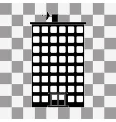 black building icon vector image vector image