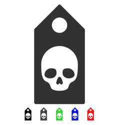 Death coupon flat icon vector