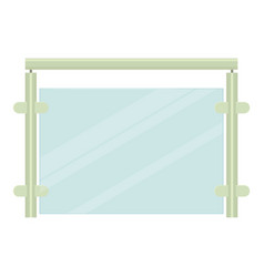 metal fence icon cartoon style vector image vector image