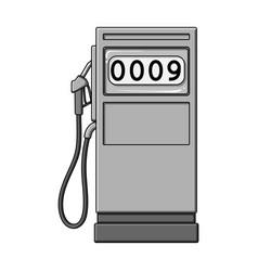 petrol filling stationoil single icon in vector image