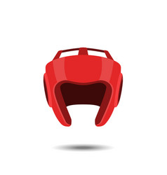 red boxing helmet on a white background vector image vector image