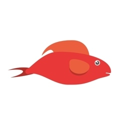 red fish half aquatic environment vector image