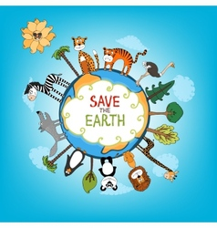 Save The Earth concept vector image