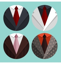 Set Flat Business jacket and tie vector image