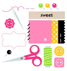 Sewing and Needlework accessories vector image vector image