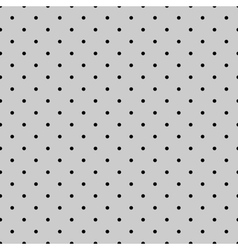 Tile black polka dots on grey background vector image vector image