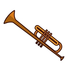 trumpet music icon image vector image vector image