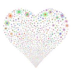atom fireworks heart vector image vector image