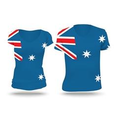 Flag shirt design of Australia vector image vector image