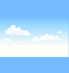 Fluffy clouds background vector