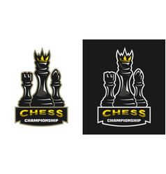 king bishop castle chess game championship vector image