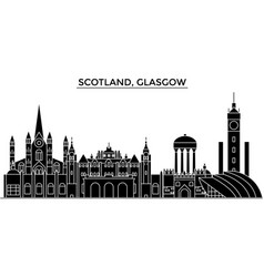 scotland glasgow architecture city skyline vector image