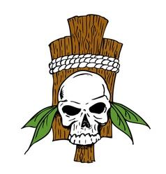 TribalSkull vector image vector image