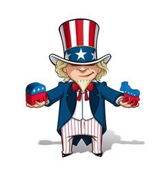 Uncle Sam Republican n Democratic vector image vector image