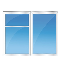 Window with blue sky vector image vector image
