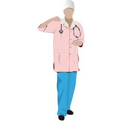 al 0336 nurse 02 vector image vector image