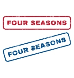 Four Seasons Rubber Stamps vector image vector image