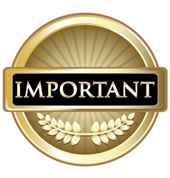 Important Gold Label vector image