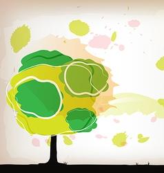 tree watercolor background vector image vector image