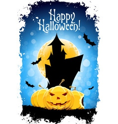 Abstract Blue Halloween Card vector image vector image