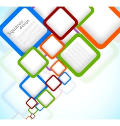 Bright colorful background with squares vector image vector image