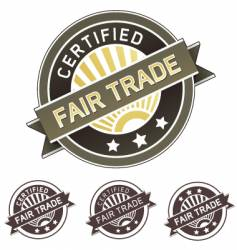 certified fair trade label vector image