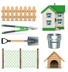 Garden Icons Set 2 vector image vector image