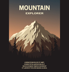 mountain landscape and forest poster vector image