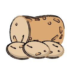 potato slice food diet healthy vector image