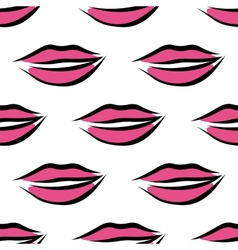 Sexy parted female lips seamless pattern vector image
