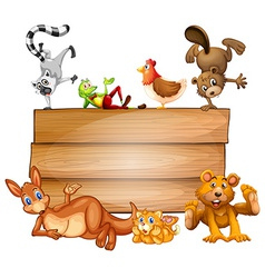 Animals and sign vector image