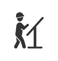 Architect design planning icon vector