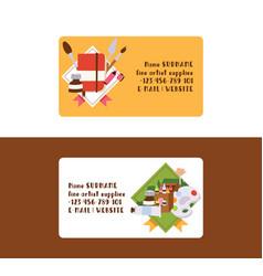 art business card studying in art-school vector image